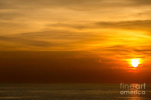 Wall Art - Photograph - Beautiful Sunset At Andaman Sea Krabi by Vichie81