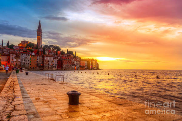 Hdr Wall Art - Photograph - Beautiful Sunset At Rovinj In Adriatic by Fesus Robert
