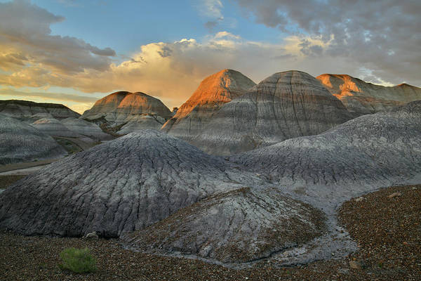 Photograph - Beautiful Sunset In Petrified Forest's Blue Mesa by Ray Mathis