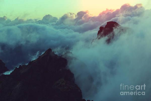 Orange Sunrise Wall Art - Photograph - Beautiful Sunset On The Hill Above by Galyna Andrushko