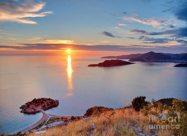 Cliffs Wall Art - Photograph - Beautiful Sunset Over Montenegro by Liseykina