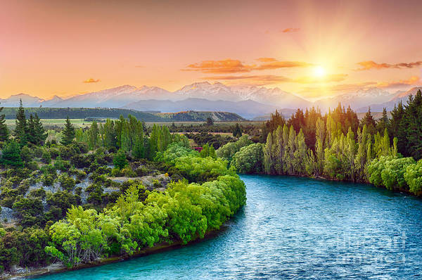 Wall Art - Photograph - Beautiful Sunset Over The Bend Of The by Filip Fuxa