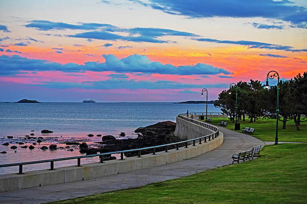 Photograph - Beautiful Sunset Over The Lynn Waterfront And Red Rock Park Lynn Ma by Toby McGuire