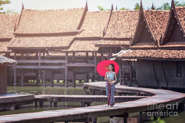 Wall Art - Photograph - Beautiful Thai Woman by Sasin Tipchai