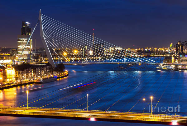 Office Buildings Wall Art - Photograph - Beautiful Twilight View On The Bridges by Dennis Van De Water
