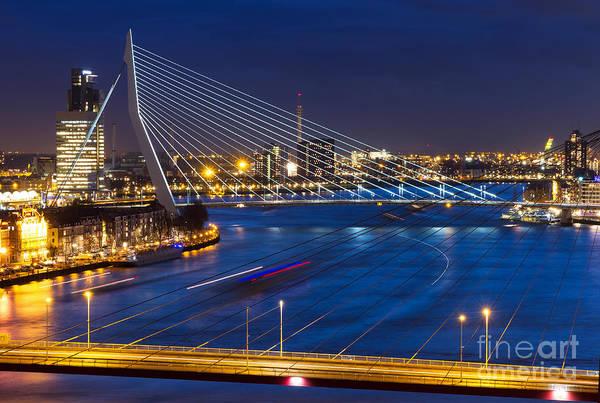 Dusk Wall Art - Photograph - Beautiful Twilight View On The Bridges by Dennis Van De Water