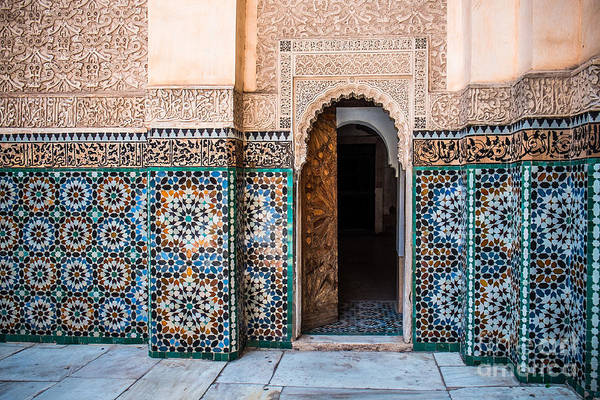 Wall Art - Photograph - Beautiful Typical Moroccan Tiles  In by Sabino Parente