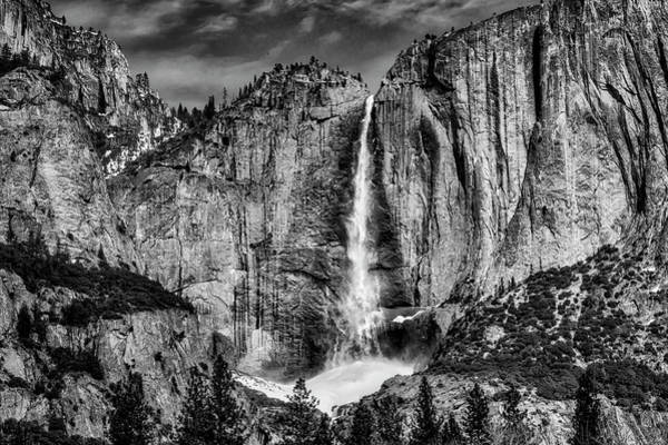 Wall Art - Photograph - Beautiful Upper Falls In Black And White by Garry Gay