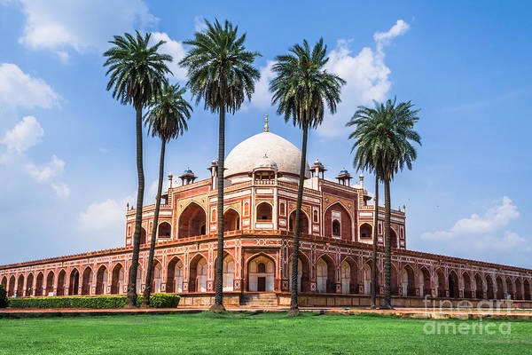 Landmark Building Photograph - Beautiful View Of Humayuns Tomb by Swapan Banik