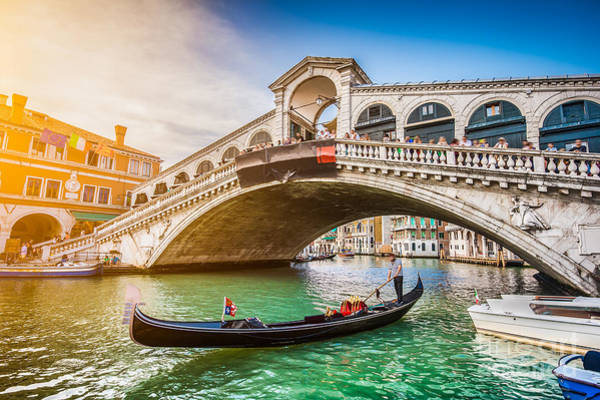Landmark Building Photograph - Beautiful View Of Traditional Gondola by Canadastock