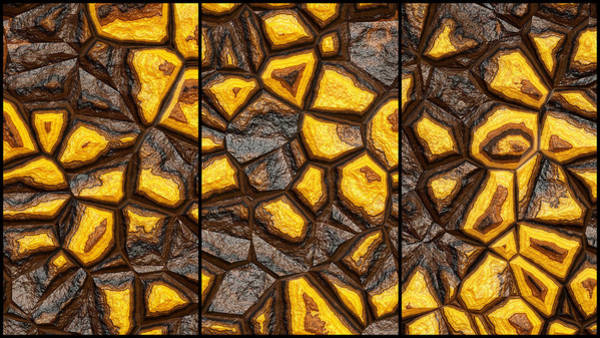 Digital Art - Beautiful Wall Abstract Triptych by Don Northup