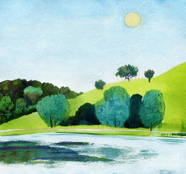 Beautiful Watercolor Of Public Park Art Print