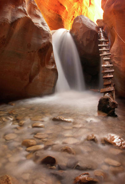 Rock Formation Photograph - Beautiful Waterfall With Pebbles On by Photography By Jenna Van Valen