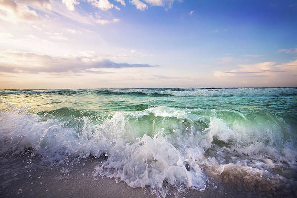 Destin Photograph - Beautiful Waves by Malcolm Macgregor