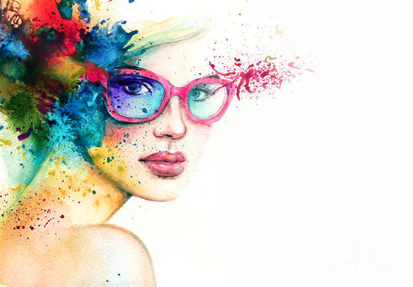 Wall Art - Digital Art - Beautiful Woman With Sunglasses by Anna Ismagilova