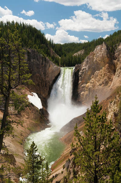 Yellowstone Canyon Photograph - Beautiful Yellowstone Falls by Leezsnow
