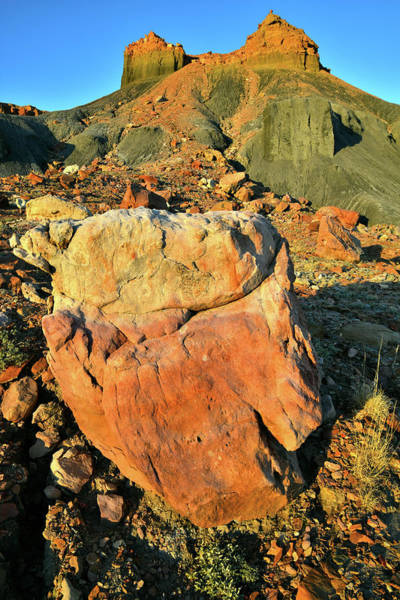 Photograph - Beautifully Colored Boulders In Millers Canyon On I-70 Utah by Ray Mathis