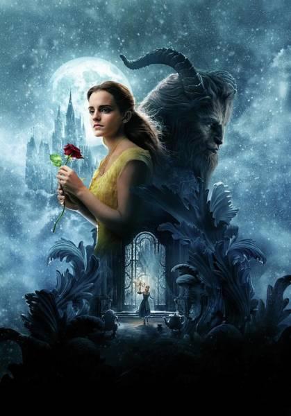 Beasts Digital Art - Beauty And The Beast Hd Poster by Geek N Rock