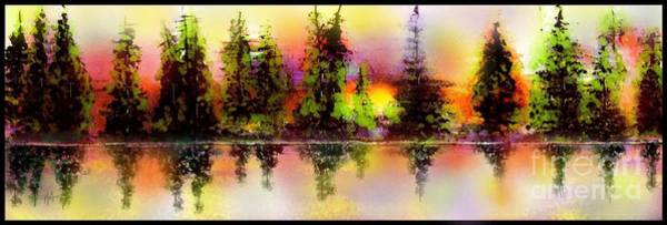 Wall Art - Painting - A Panoramic Sunset by Hazel Holland