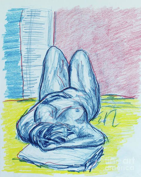 Primary Colors Drawing - Beauty In Repose by Robert Yaeger