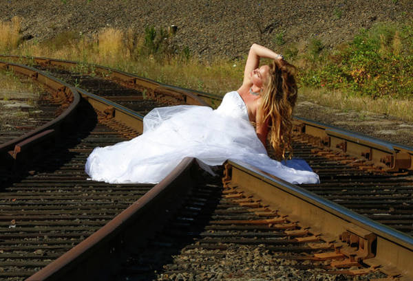Wall Art - Photograph - Beauty On The Train Tracks by Athena Mckinzie