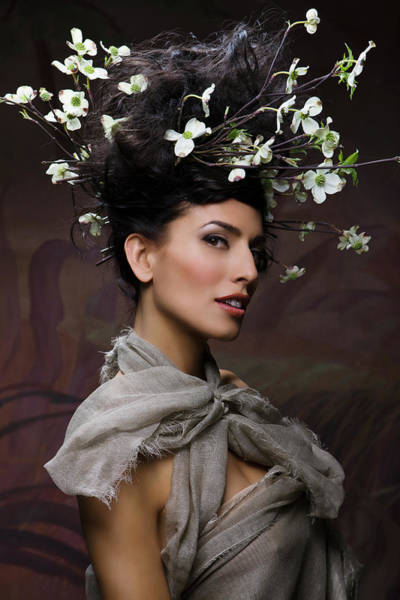 Content Photograph - Beauty Portrait Of Woman Entwined In by Ralf Nau