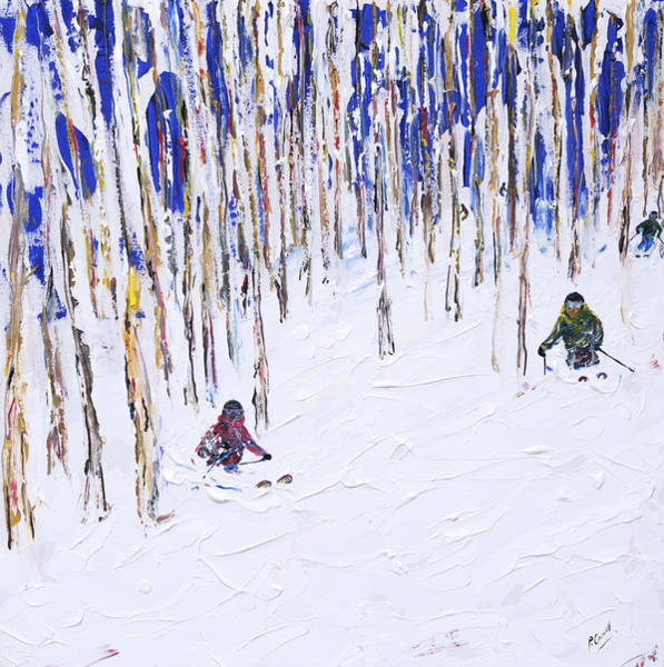 Snowboard Wall Art - Painting - Beaver Creek And Vail Ski Print by Pete Caswell