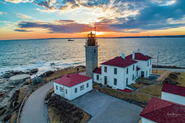 Photograph - Beaver Tail Lighthouse  by Michael Hughes