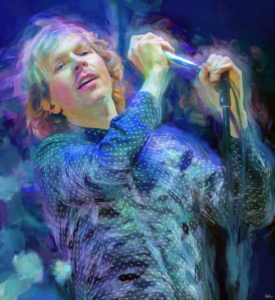 Folk Singer Mixed Media - Beck Singer Songwriter by Mal Bray