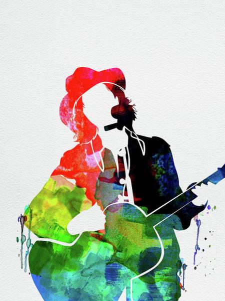 Jazz Mixed Media - Beck Watercolor by Naxart Studio
