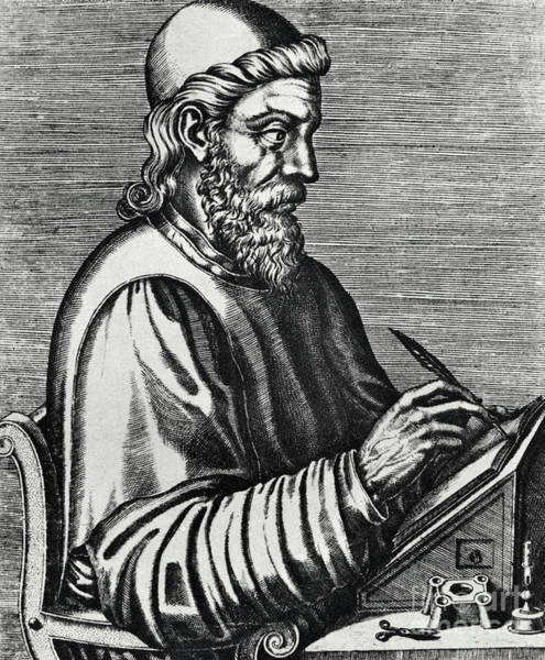 Wall Art - Drawing - Bede Or St Baeda by Andre Thevet