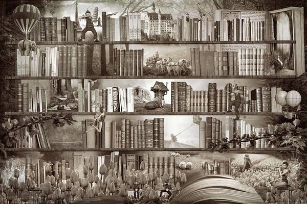 Digital Art - Bedtime Stories In Sepia by Debra and Dave Vanderlaan