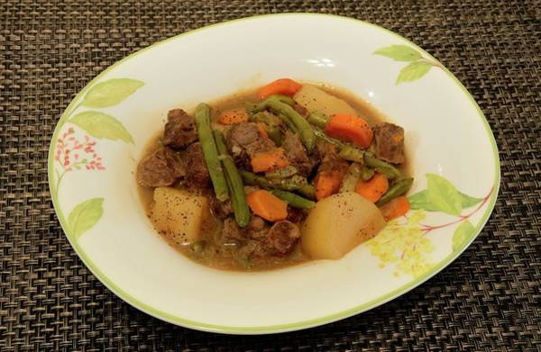 Photograph - Beef Stew Serving 1 by Angie Tirado