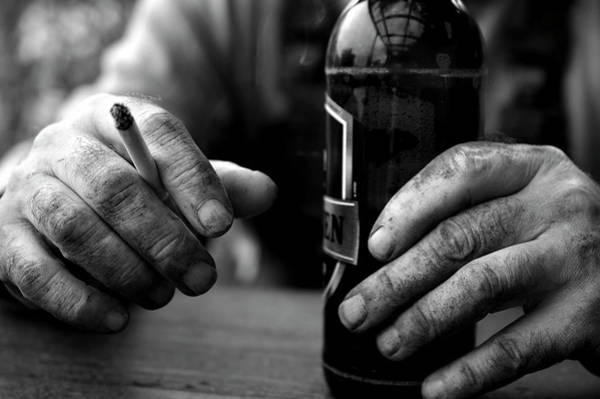 Wall Art - Photograph - Beer And A Cigarette by Daniel Hagerman