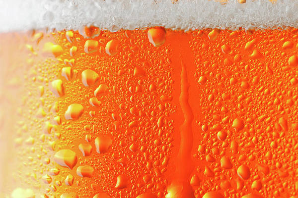 Frosted Glass Photograph - Beer Background by Ultramarinfoto