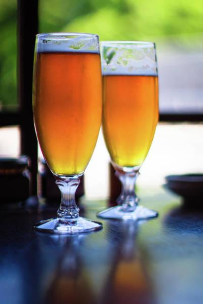 Alcohol Photograph - Beer Glass by Sakura chihaya+