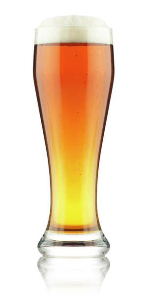 Lager Photograph - Beer In Glass by Rjp85