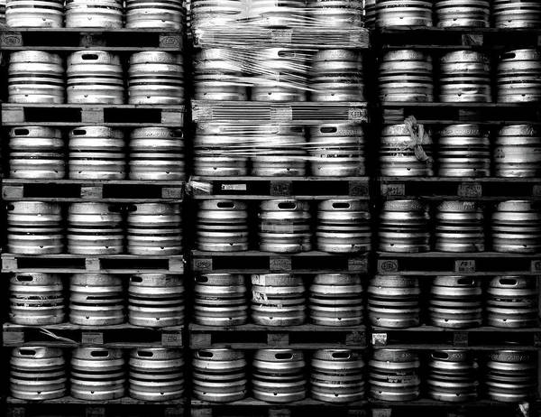 Pallet Wall Art - Photograph - Beer Kegs by Karl Borg