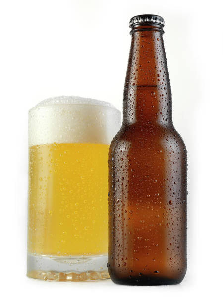 Lager Photograph - Beer On White by Lauripatterson