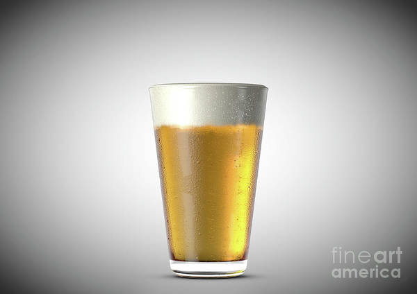 Wall Art - Digital Art - Beer Pint by Allan Swart
