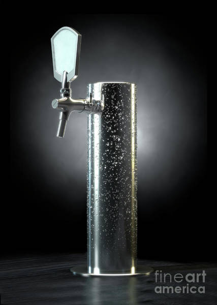 Draught Digital Art - Beer Tap Condensation by Allan Swart