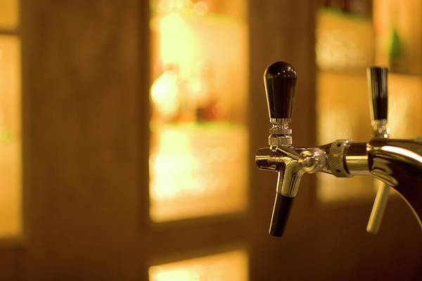 Bar Counter Photograph - Beer-taps In A Bar by Kohlerphoto