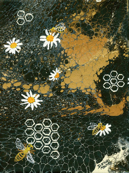 Painting - Bees And Daisys by Darice Machel McGuire