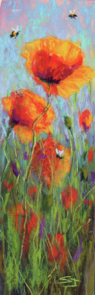 Painting - Bees And Poppies by Susan Jenkins