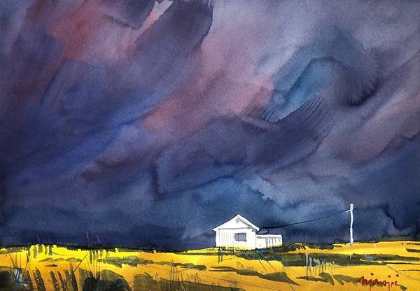 Wall Art - Painting - Before A Storm by Ugljesa Janjic