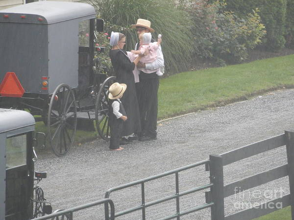 Photograph - Before An Amish Church Service by Christine Clark