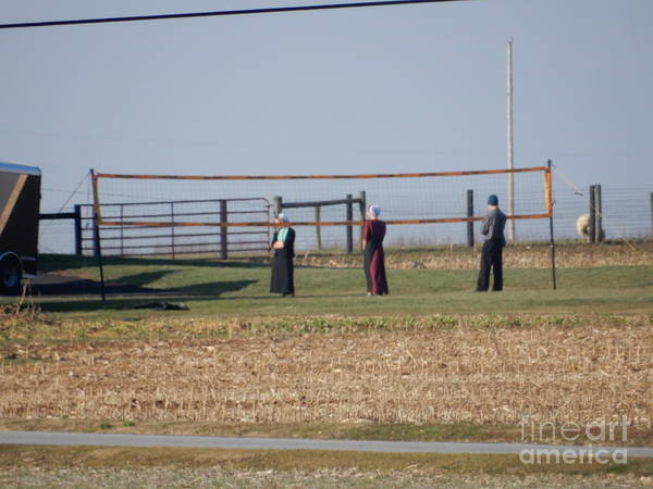 Photograph - Before An Amish Volleyball Game by Christine Clark