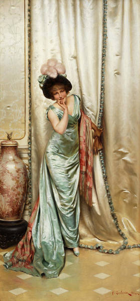 Wall Art - Painting - Before The Ball by Frederic Soulacroix
