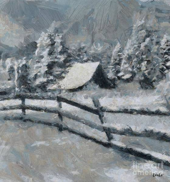Wall Art - Painting - Before The Blizzard by Dragica Micki Fortuna