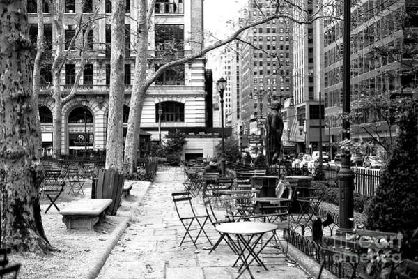 Photograph - Before The Crowds At Bryant Park New York City by John Rizzuto